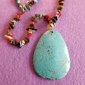 Jewelry - Southwestern style necklace turquoise blue stone
